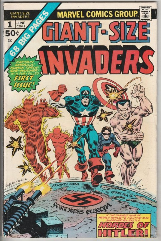 Giant-Size Invaders #1 (Jun-75) FN Mid-Grade The Human Torch