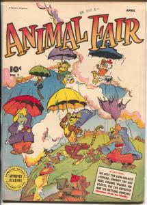 Animal Fair #2 1946-Fawcett-umbrella cover-nice spine-FN/VF