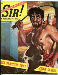 Sir! Magazine March 1954-COBRA ATTACK CVR-BLOODY BOXING PHOTOS FN