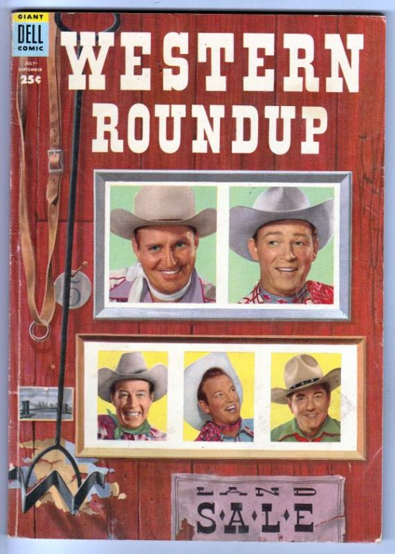 Dell Giant Western Roundup #7 (Jul-54) VG/FN Mid-Grade Roy Rogers, Dale Evans...