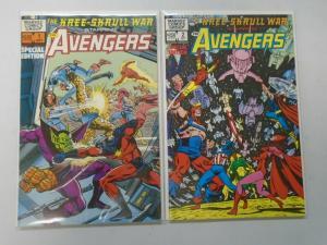 Kree-Skrull War Starring the Avengers set #1+2 (1983) 6.0/FN