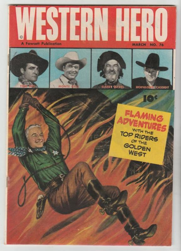 Real Western Hero #76 (Mar-49) NM- High-Grade Hopalong Cassidy, Monte Hale, T...