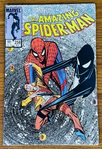 AMAZING SPIDER-MAN #258 ALIEN SYMBIOTE Mr Fantastic Hobgoblin Venom Marvel 1984