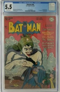 Batman #49 ~ 1948 DC ~  CGC 5.5 (FN-); 1st App. of Vicki Vale & Mad-Hatter