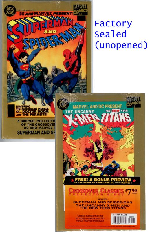 DC & Marvel: Superman and Spider-Man, X-Men New Teen Titans. Factory Sealed NM/M