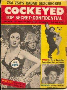 Cockeyed #2 1955-MAD imitator-Confidential Mag spoof-bizarre humor-P/FR