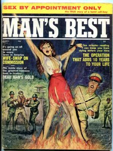 Man's Best Magazine March 1962-SPICY TORTURE COVER-SHANNON COLBY VG