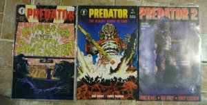 PREDATOR  COMICS  BLOODY SANDS OF TIME # 1 +INVADRES FROM THE 4TH DIMEN