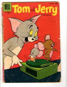 4 Dell Comics Tom & Jerry # 170 Huckleberry Hound # 8 + Mutt Jeff # 112 107 J305