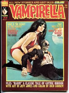 Vampirella #32 1974-Warren-Vampi cover-horror-mystery stories-color insert-FN/VF