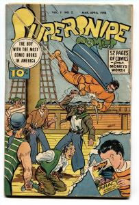 Supersnipe Vol. 3 #2 1946  SHADOW COMICS cover-Superhero VG