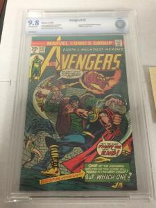 Avengers 132 Cbcs 9.8 Ow/w Pages Pedigree 2nd Mile High Collection Like Cgc