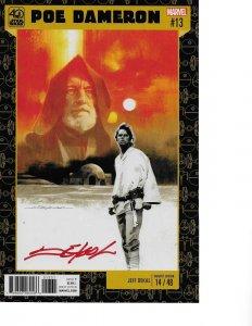 Star Wars: Poe Dameron #13 A NEW HOPE LUKE VARIANT signed Jeff Dekal NM