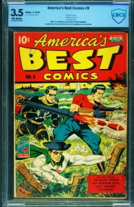 America's Best Comics #9 CBCS 3.5 1944-WWII cover-Alex Schomburg