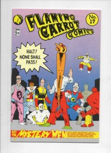 FLAMING CARROT #17, VF+, Bob Burden, Renegade, Mystery Men,1984,more FC in store