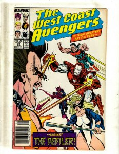 Lot of 12 West Coast Avengers Comics #38 39 40 41 42 43 44 51 53 55 56 57 J417