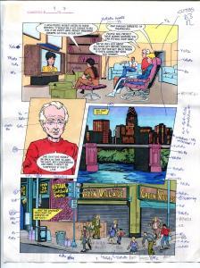 Elementals #9 Page #7 Original Color Guide Ken Feduniewicz