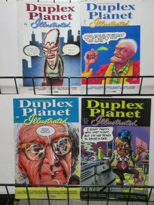 Duplex Planet Illustrated (Fantagraphics 1994) #6, 7, 9, 10 David Greenberger