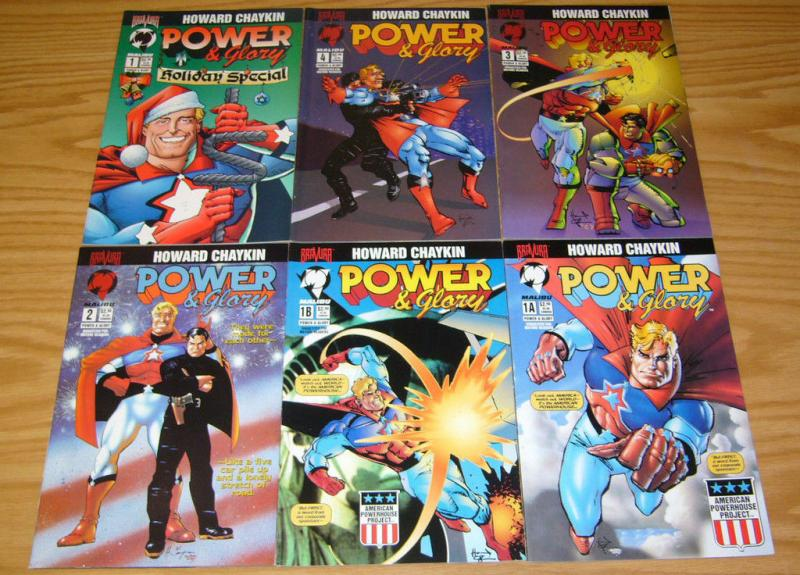 Power & Glory #1-4 VF/NM complete series + special + variant HOWARD CHAYKIN 1994