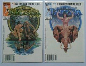 Tarzan of the Apes (Marvel) Set:#1&2 8.0 VF (1984)