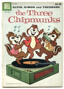 Three Chipmunks - Four Color comics #1042- 1st Alvin Simon & Theodore!