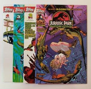 Jurassic Park: Raptors Attack #1-4 Complete Set 1994 Topps Comics VF/NM