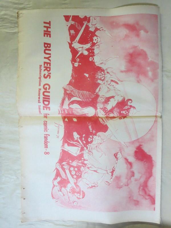 BUYERS GUIDE #8 Fujitake cvr October 1971