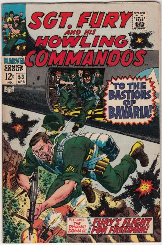 Sgt. Fury and His Howling Commandos #53 (Apr-68) FN/VF High-Grade Sgt. Fury, ...