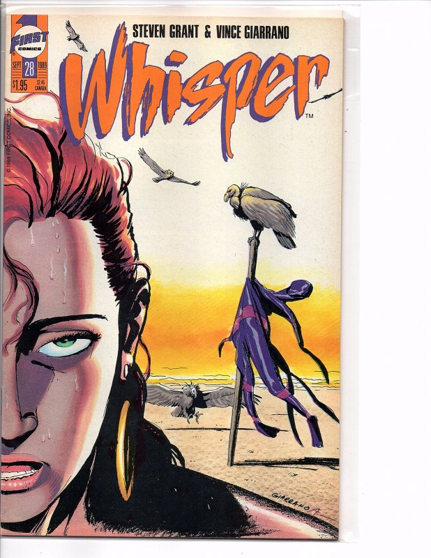 First Comics Whisper #27 & 28 (1989) Steven Grant Bruce Timm NM