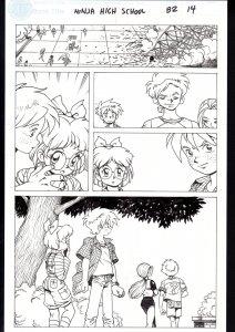Ninja High School #82 Page 14 Original Comic Book Art- Ben Dunn