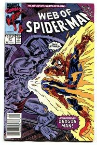 Web Of Spider-man #61 Marvel-1st child Normie Osborne Newsstand variant