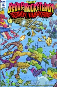 TMNT: Bebop & Rocksteady Destroy Everything #4 VF/NM; IDW   save on shipping - d