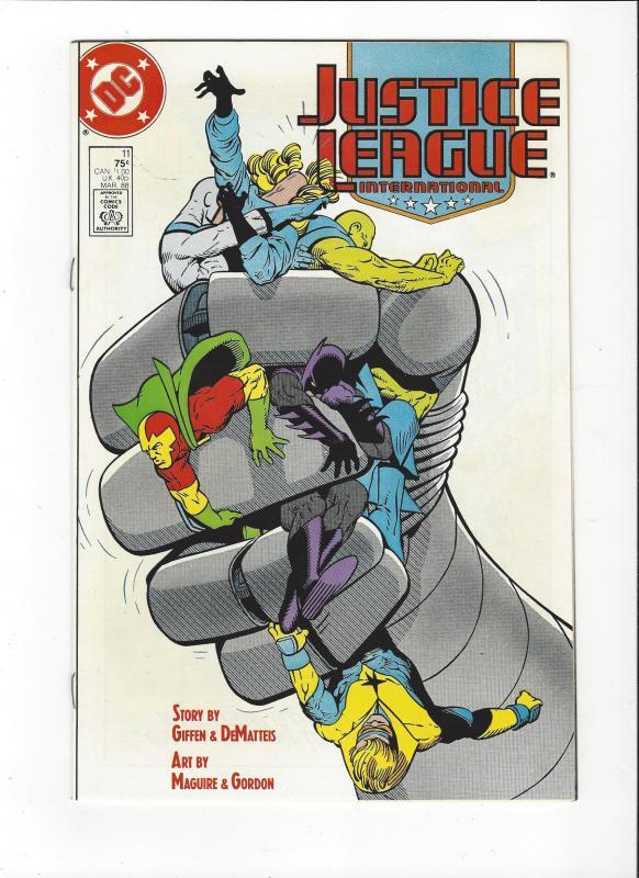 Justice League International #11 1987 DC Comics Copper Age  NM