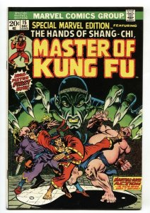 Special Marvel Edition #15 comic book 1st Shang-Chi Master of Kung Fu VF