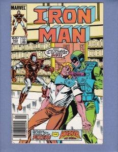Iron Man #202 NM- Kazar Marvel 1986