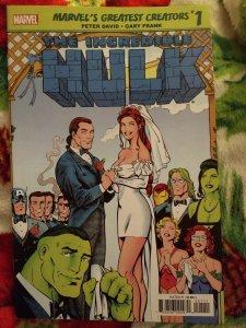 Marvel's greatest creators: Hulk Wedding of Rick Jones #1 NM