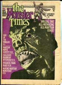 The Monster Times #31 Horror Newspaper 1974 All Martian Issue Bradbury Interview