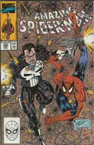 Amazing Spiderman #330 ORIGINAL Vintage 1990 Marvel Comics Punisher
