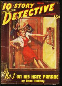 TEN-STORY DETECTIVE 8/1949-RARE PULP FN