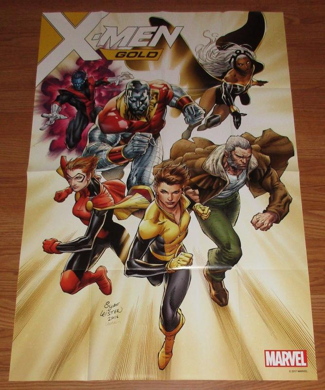 X-Men Gold Folded Promo Poster Wolverine / Storm / Rogue 24 x 36 (Marvel) New