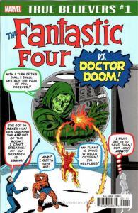 True Believers: Fantastic Four vs. Doctor Doom #1 VF/NM; Marvel | save on shippi