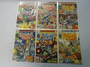 Logan's Run near set #1-7 mising #6 avg 6.0 FN (1977)
