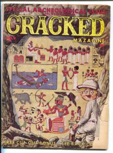 Cracked Magazine #30 1963-Severin  archeology cover-John Severin-Pete Wyma-Bi...