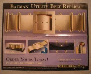 BATMAN UTILITY BELT REPLICA Promo Poster, 2004, Unused, more in our store