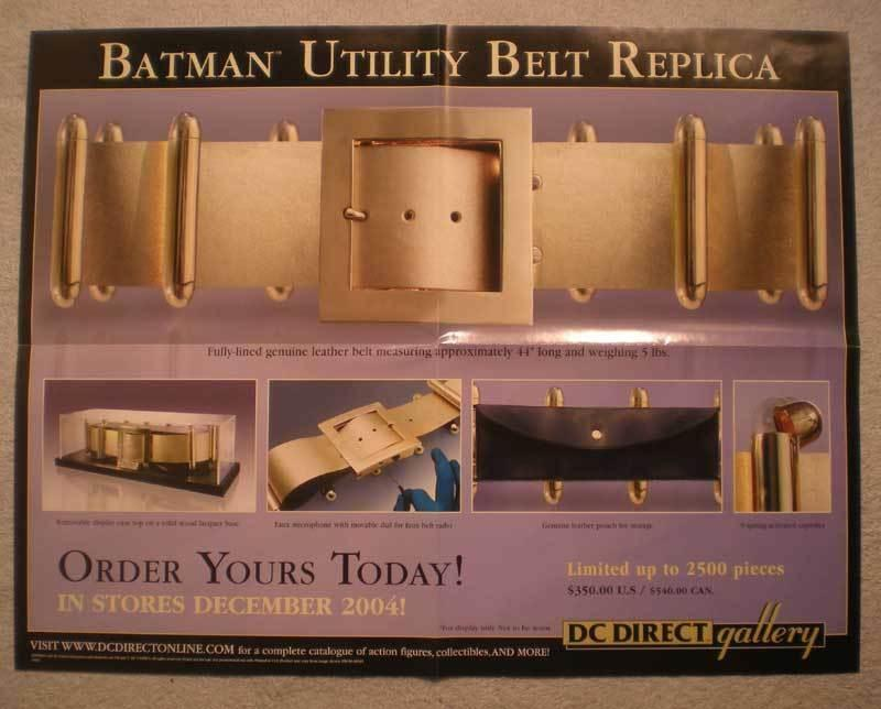 BATMAN UTILITY BELT REPLICA Promo Poster, 2004, Unused, more in our store