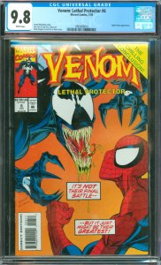 Venom: Lethal Protector #6 CGC Graded 9.8 Spider-Man appearance.