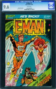 E-man #1 1983-cgc Graded 9.6-white Pages-joe Staton-first Issue 0207093029