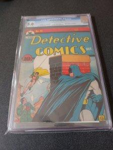 DETECTIVE COMICS #44 CGC 5.0 GOLDEN AGE CLASSIC 1940