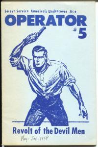 Operator #5 1970's-Reprints Revolt of The Devil Men-FN-