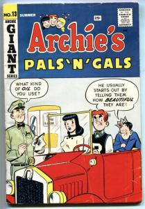 Archie's Pals 'n' Gals #13 1960-Betty & Veronics-Giant Issue-VG